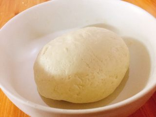 香菇大肉包,用手揉成团,包上保鲜膜常温发酵