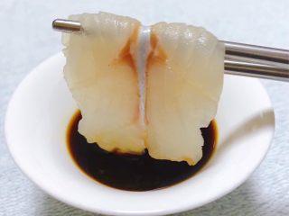 黑鱼刺身,黑鱼片入口细腻爽滑入口即化