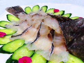 黑鱼刺身,看着诱人的生鱼片就口水直流