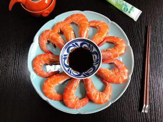 白灼大海虾配芥末生抽