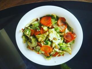 清炒胡萝卜圆白菜