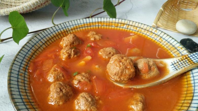 """中餐厅~番茄牛丸汤,好,来一碗番茄牛肉丸子汤吧! 下期精彩请关注""""敏茹意"""""""