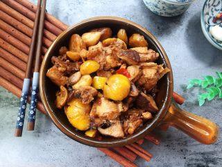 双菇板栗烧鸡,香浓好吃!
