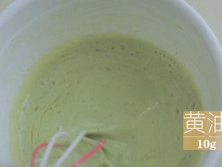 榴莲的3+2种有爱做法「厨娘物语」,加入10g融化的黄油搅拌均匀,过筛面糊。