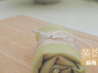 榴莲的3+2种有爱做法「厨娘物语」,包上油纸,装饰麻绳。