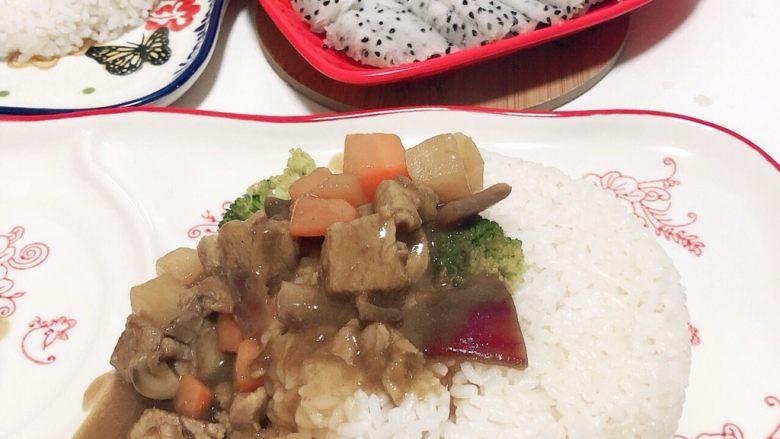 宝宝咖喱-嫩豚内脊原味咖喱盖饭