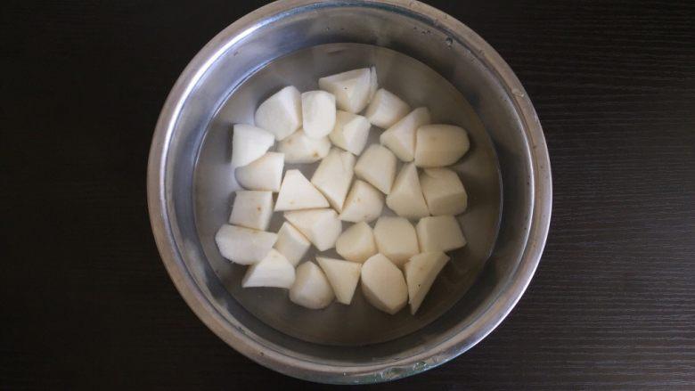 红糖山药粥,泡水备用