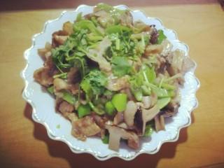 尖椒鲜菇炒肉