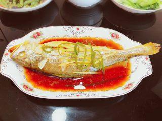 酸甜味清蒸黄瓜鱼