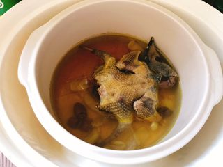 百合炖鸽子-滋补好汤,炖好出锅。