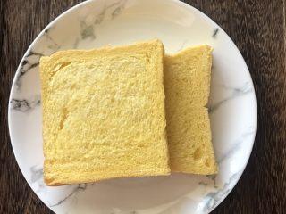 芝士火腿黄金西多士,吐司片2片