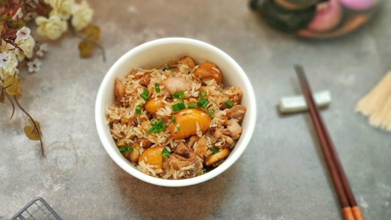 板栗香菇鸡肉焖饭