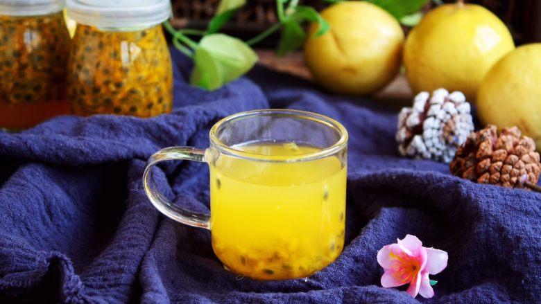 冬喝金色百香果蜂蜜茶
