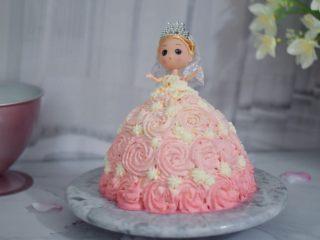 芭比娃娃蛋糕,成品图