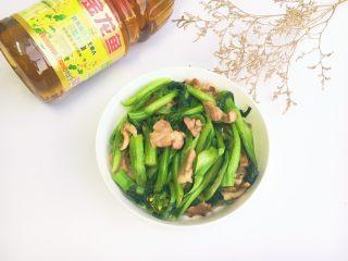 菜心炒肉片