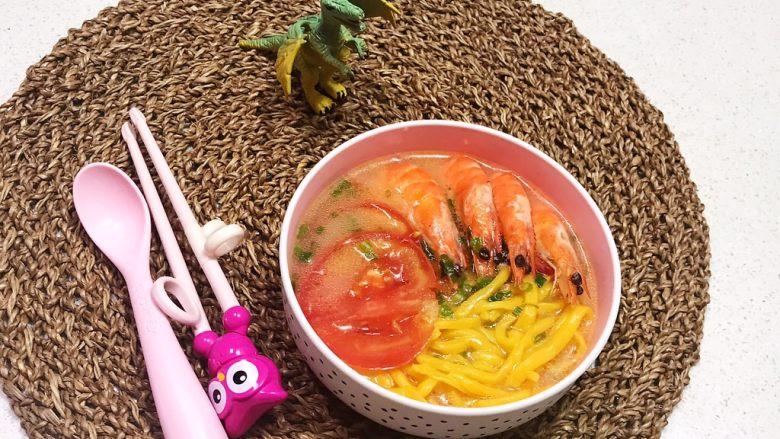 宝宝健康食谱   鲜虾番茄南瓜面