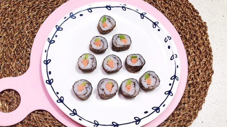 宝宝健康食谱  迷你小寿司,迷你小寿司做好了