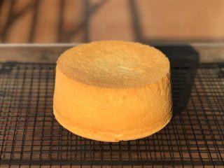 抹茶冰激凌爆浆蛋糕,提前制作一个六寸蛋糕胚,后蛋法,烤箱155度,60分钟。配方很好吃,做法就不详细介绍了,相信大家都已经熟练掌握戚风蛋糕的制作步骤。