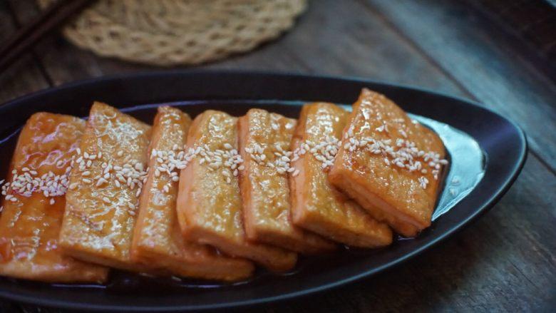 茄汁豆腐,近看