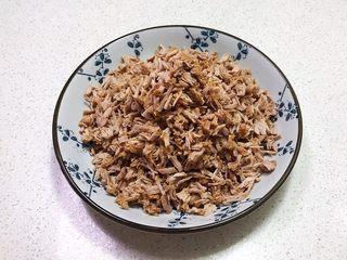 宝宝健康食谱  自制猪肉松,用手撕成小丁