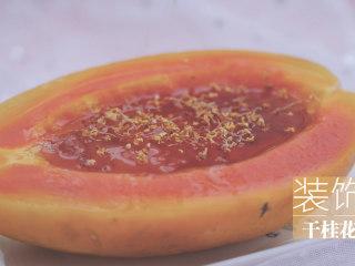 桃胶的3+1种有爱吃法「厨娘物语」,取出装盘,装饰干桂花。