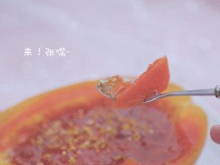 桃胶的3+1种有爱吃法「厨娘物语」,桂花木瓜桃胶盅酒做好啦,开吃吧~
