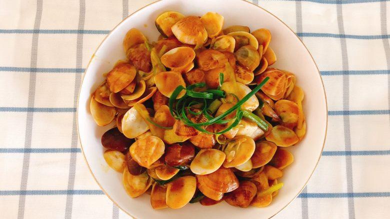 咖喱炒花蛤-好吃到舔壳