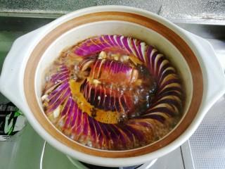 鱼香茄龙煲,大火烧开,小火慢煨入味