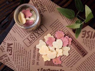 宝宝奶片,放入小罐子保存,尽快食用。