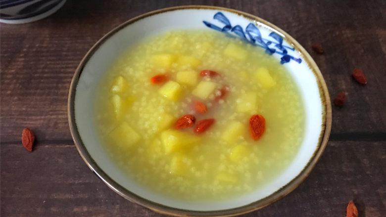 苹果小米粥