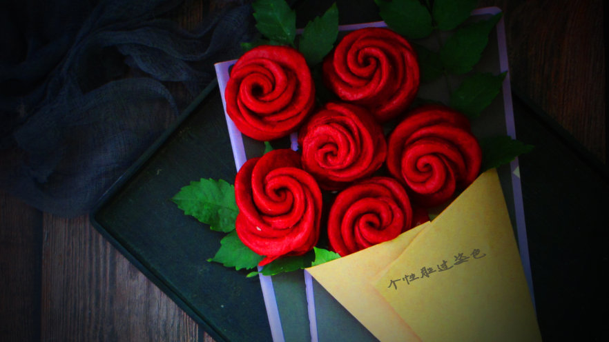 十味 玫瑰花馒头