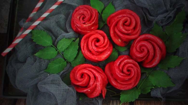 十味 玫瑰花馒头,送这么一束花,你的情人节会怎么样。