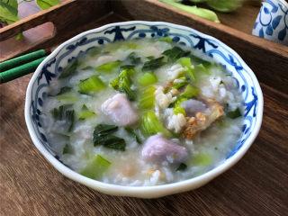 筒骨芋艿菜粥,简单省事,香味诱人,鲜美还补钙的筒骨菜粥。