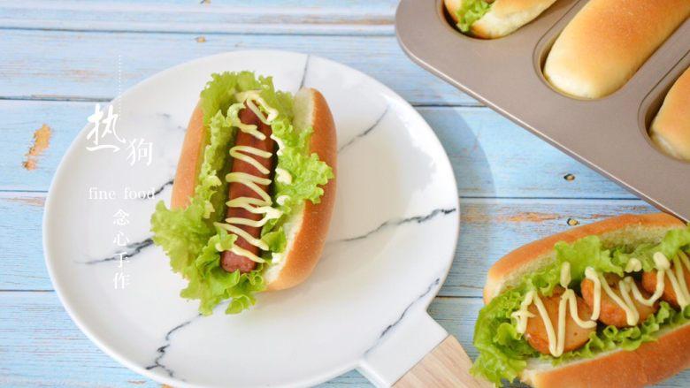 十味 热狗,鱼丸煎好后,切片夹在热狗中间也很好吃