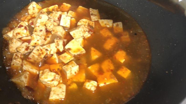 十味 家常豆瓣烧豆腐,加入约2碗水