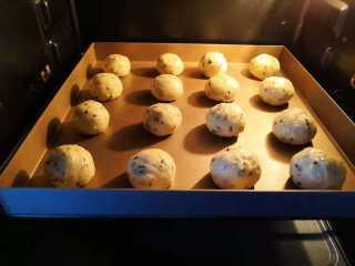 麻薯-恐龙蛋,烤箱提前预热170度。送入烤箱烤制33分钟左右。