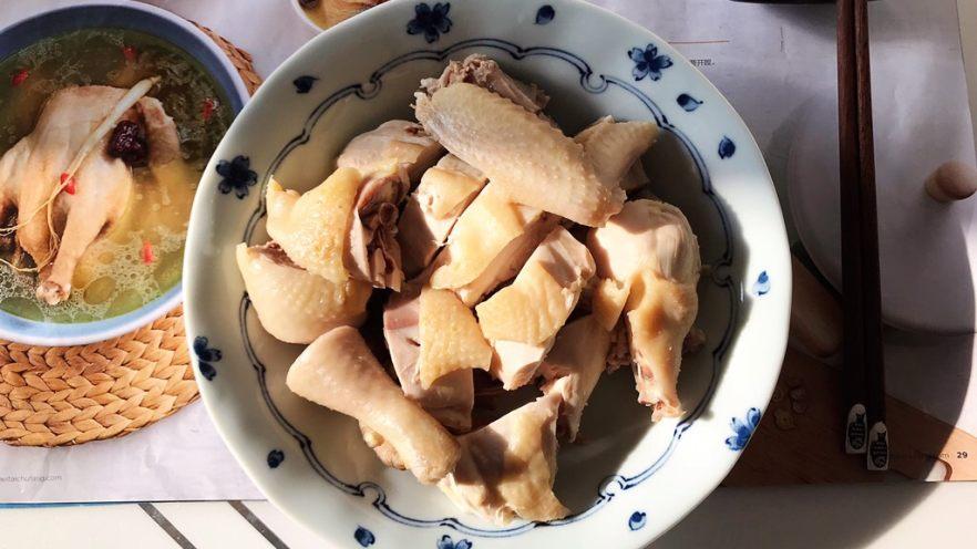 一鸡两吃(白切鸡  鸡汤白菜)