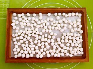 紅糖藍莓小圓子,揉成光滑的小圓子,一次可以多做一點,放入冰箱冷凍保存,吃的時候取出來即可,這次只用150克