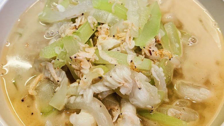 虾米炒蒲瓜
