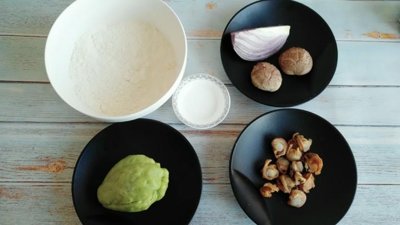 佛手扇贝海鲜汤, 准备所需食材。