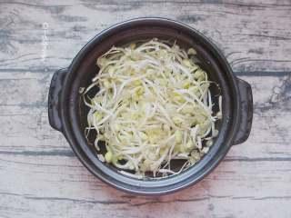 豆芽炖粉条,黄豆芽清洗干净