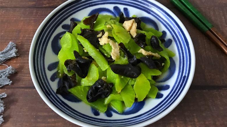 黑木耳莴笋肉片
