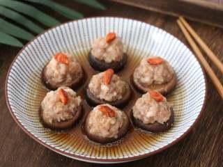 香菇酿肉,成品