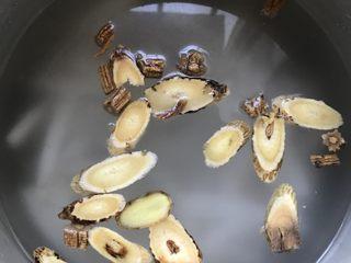浓香椰子汤,加入水用高压锅压30分钟。