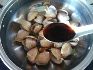 蚝油炒黄蚬子,一小勺蚝油