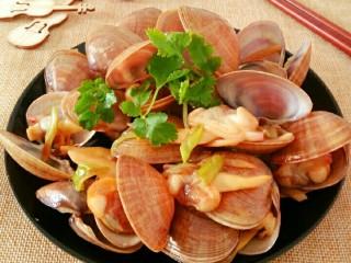 蚝油炒黄蚬子,做好的蚝油黄蚬子