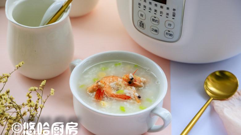 鲜虾干贝粥