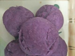紫薯馒头,紫薯馒头完成。