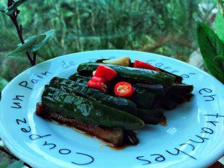 酱腌脆黄瓜,放入冰箱腌制一晚,开吃。