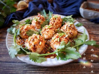 蒸拌鸡胸虾仁丸子——谁说要健身只能吃白水煮鸡胸肉?,成品。